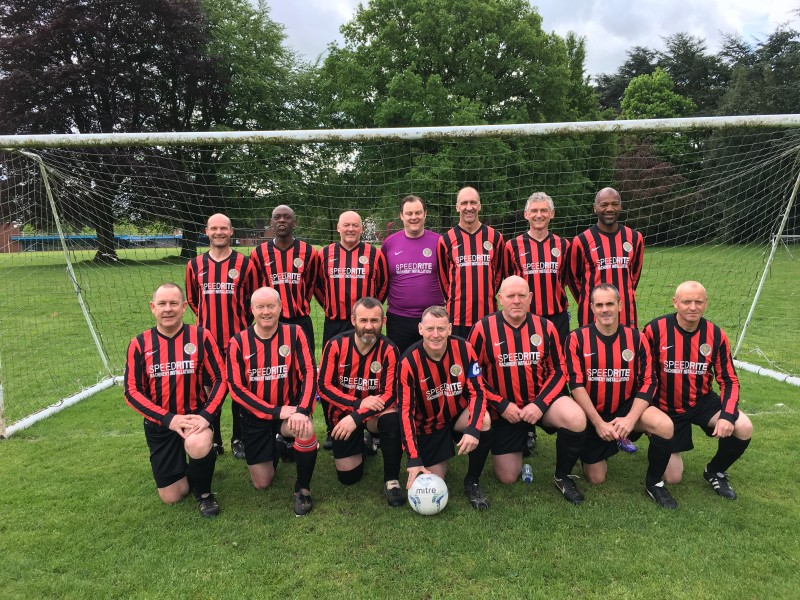Speedrite sponsored, Old Altrincham FC's win as league champions of the over 45's league